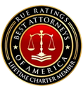 Rue Rating | Best Attorneys of America | Life time Charter Member