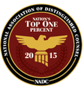 National Association of Distinguished Counsel | nations Top one percent | 2015 | NADC